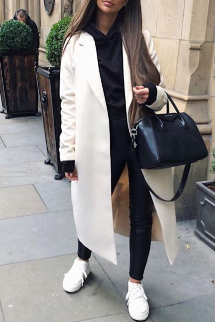 mode femme automne hiver casual avec pantalon similicuir. Black Bedroom Furniture Sets. Home Design Ideas