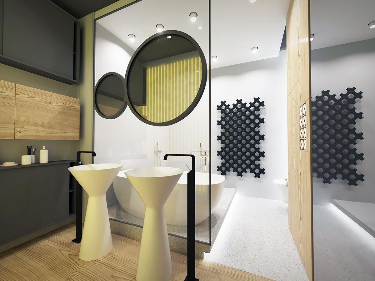 Modern bathroom interior design elegant sinks and designer