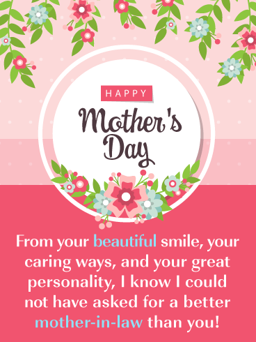 Pretty Flowers Happy Mother S Day Card For Mother In Law Birthday Greeting Cards By Davia Mother Day Wishes Mother Day Message Happy Mothers Day
