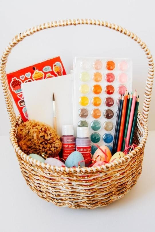 Excellent easter basket ideas for kids teenagers and adults 35 excellent easter basket ideas for kids teenagers and adults modern easter basket negle Choice Image