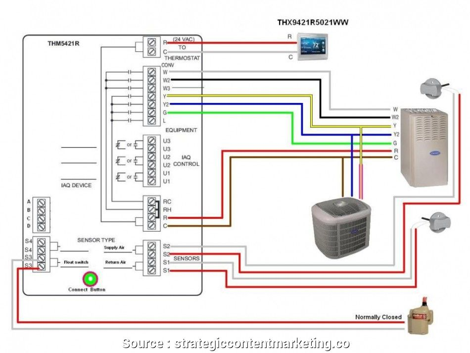carrier hvac thermostat wiring diagram  hvac thermostat