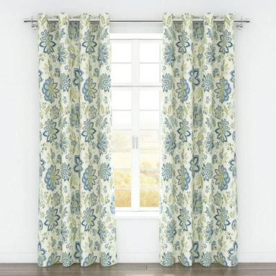 Colorfly Bella 84 Inch Grommet Top Window Curtain Panel Pair