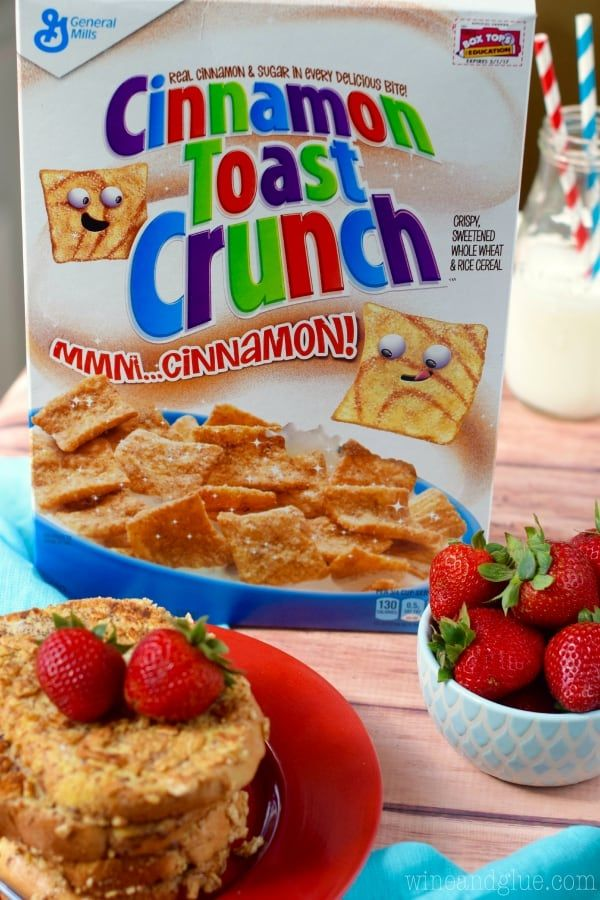 Cinnamon Toast Crunch Crusted French Toast