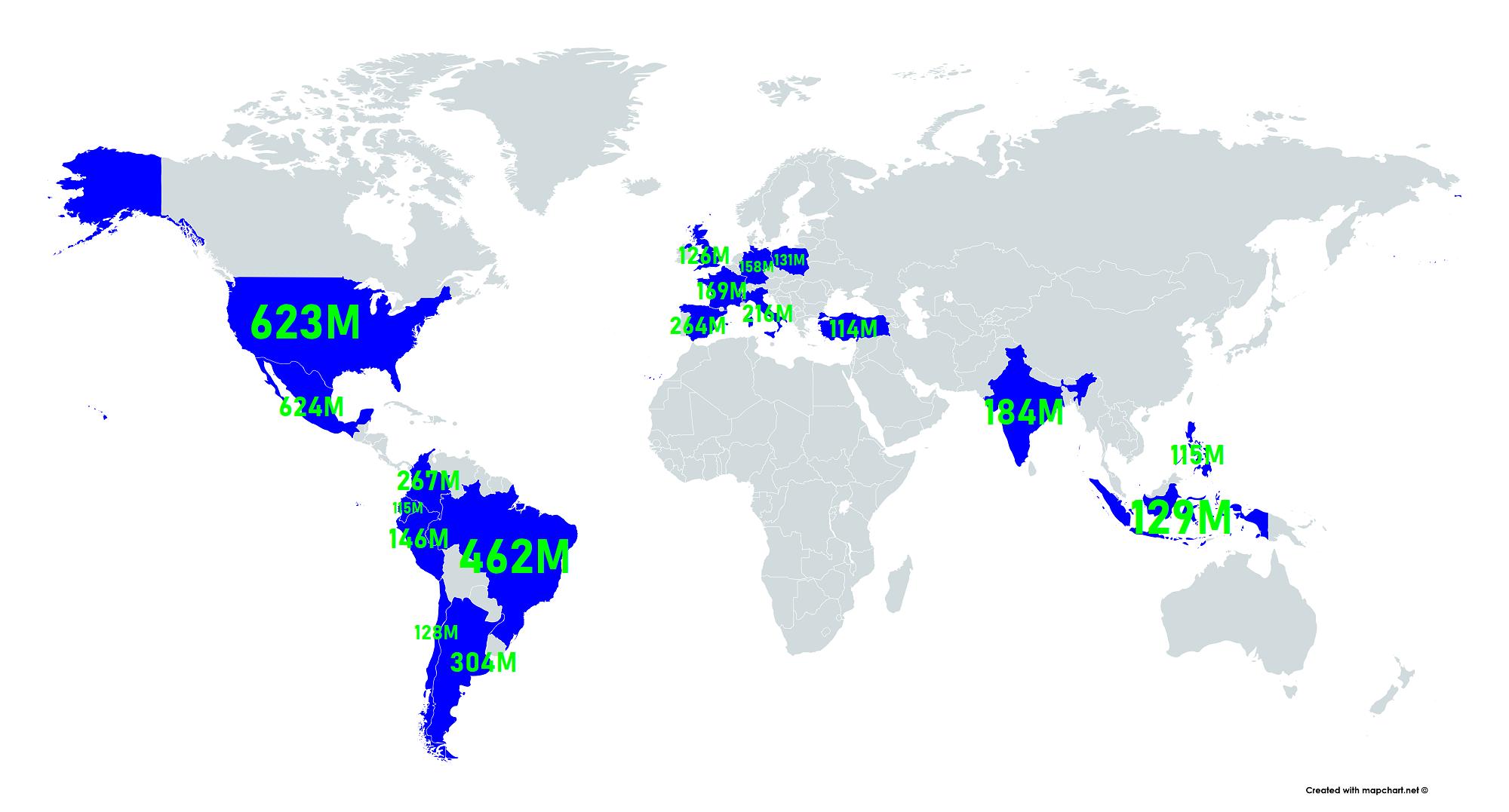 Countries where despacito has received over 100 million youtube countries where despacito has received over 100 million youtube views so far gumiabroncs Choice Image