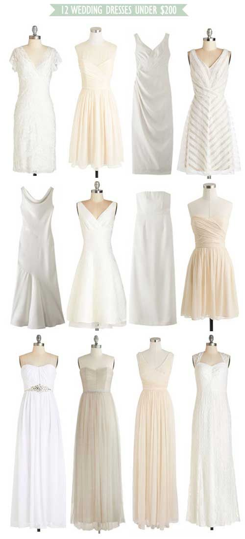 12 Wedding Dresses Under $200   Perfect For A City Hall, Elopement, Or Low
