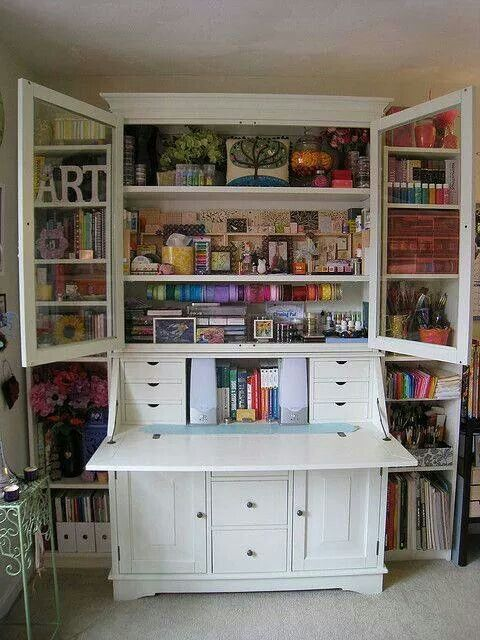 Art Armoire I Want One Craft Cabinet Storage