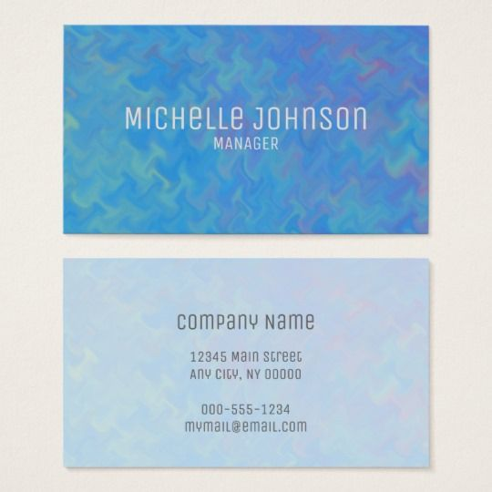 Elegant blue marbling professional look business card reheart