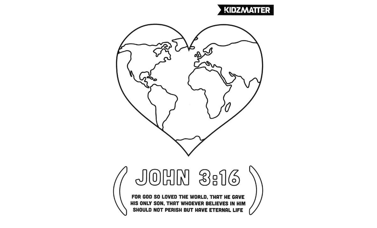 God So Loved the World Coloring Page | sunday school | Pinterest ...