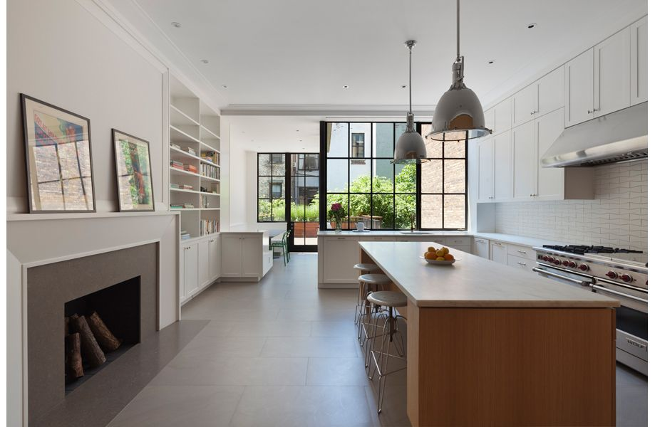 Ou0027neill Rose Architects, White Kitchen Cabinets In West Side Townhouse NY