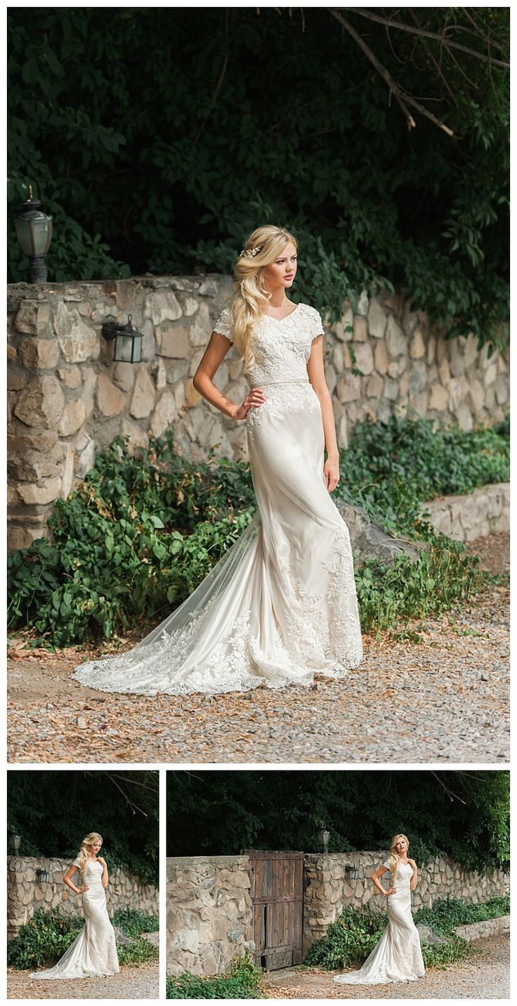 The Bronwin, a modest wedding dress by LatterDayBride for LDS brides ...