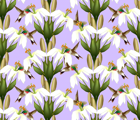 Lily_Damask_8 fabric by glimmericks on Spoonflower - custom fabric Coming in April 2014.