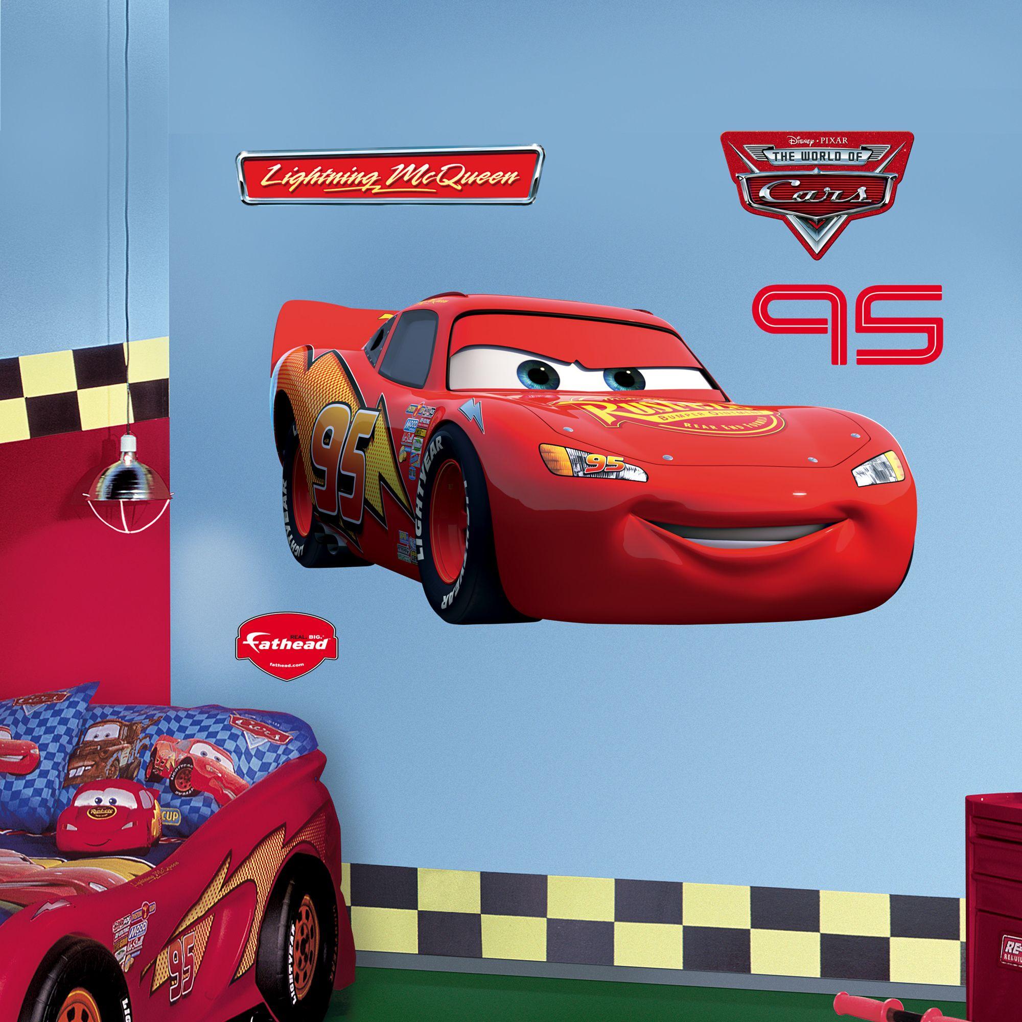 Lightning Mcqueen Disney Cars Bedroom Lightning Mcqueen Disney Wall Decals [ 2000 x 2000 Pixel ]