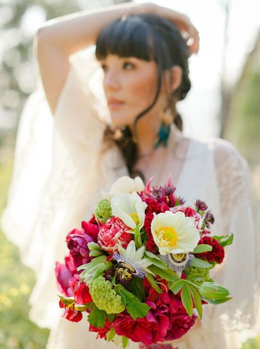 Inspiration for bright and colourful bridal bouquets that are ...