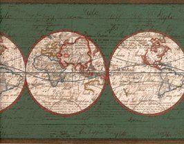 World Map Wallpaper Border Ax6004b Amazon Com World Map Wallpaper Map Wallpaper Wallpaper Border