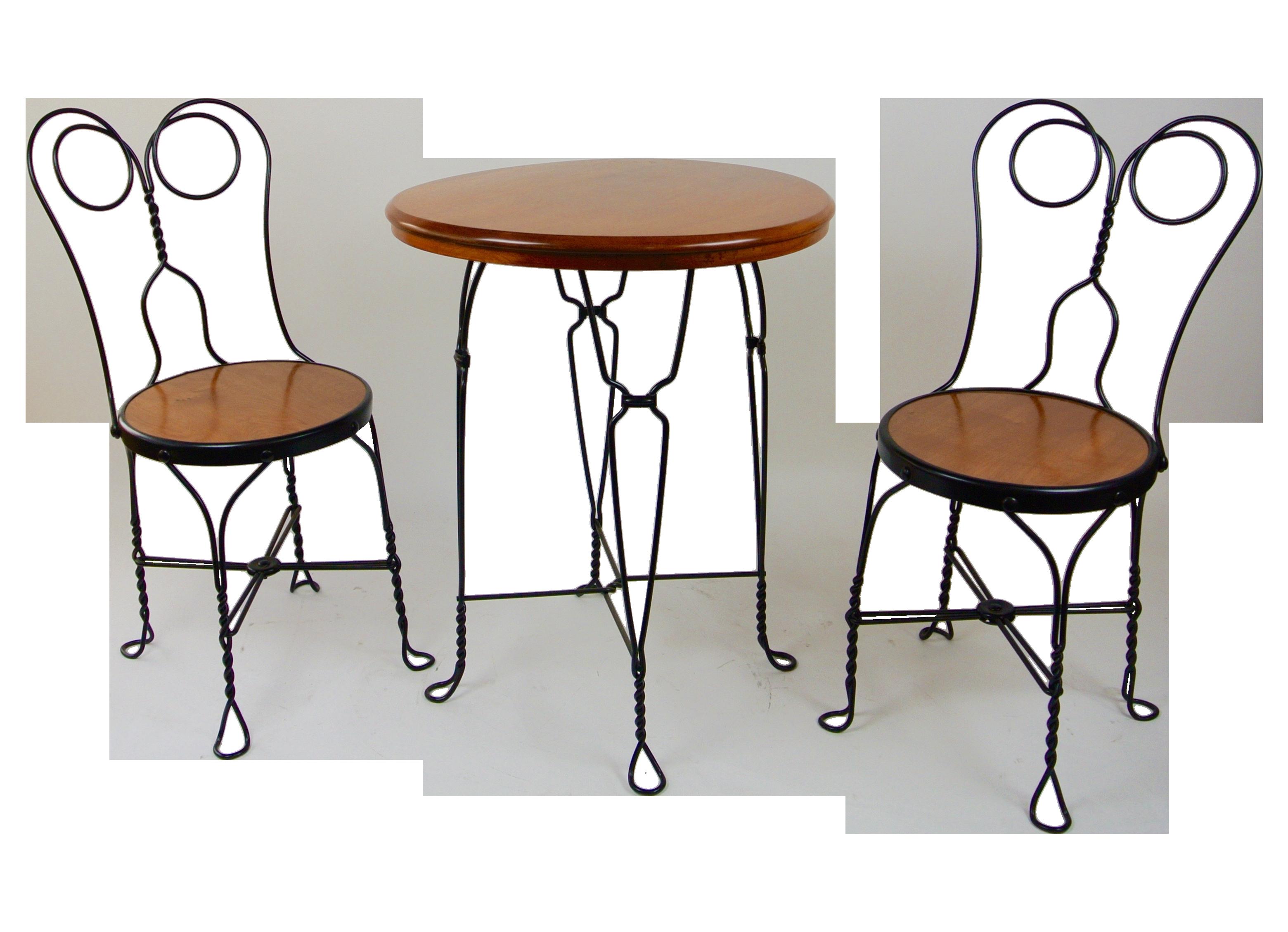 Restored Antique Soda Fountain Chair Set | Chairish