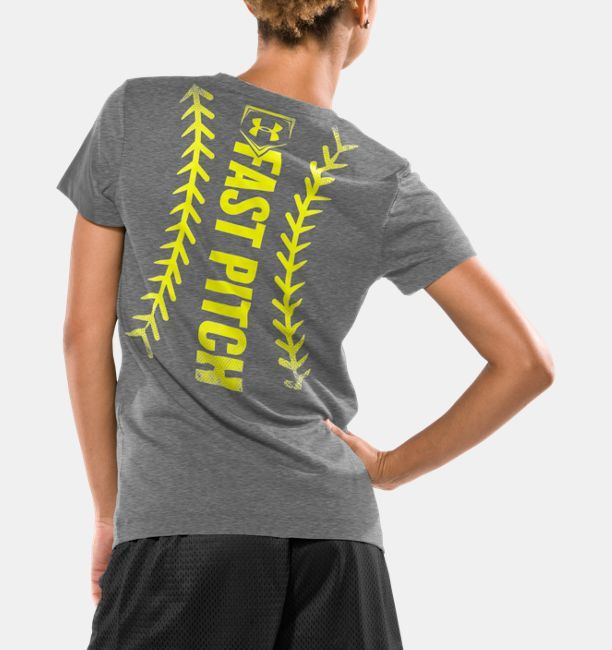 a15b2809e5 Shop Under Armour for Women's UA Fast Pitch Stitch Short Sleeve T ...