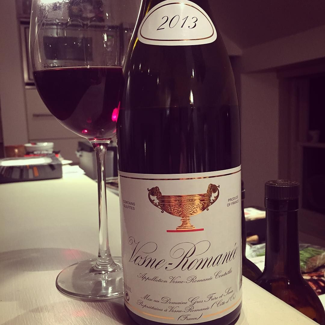 Scrumptious meaty Pinot with a fruity core 🍷👍🍷#domainegrosfrereetsoeur #vosneromanee 2013