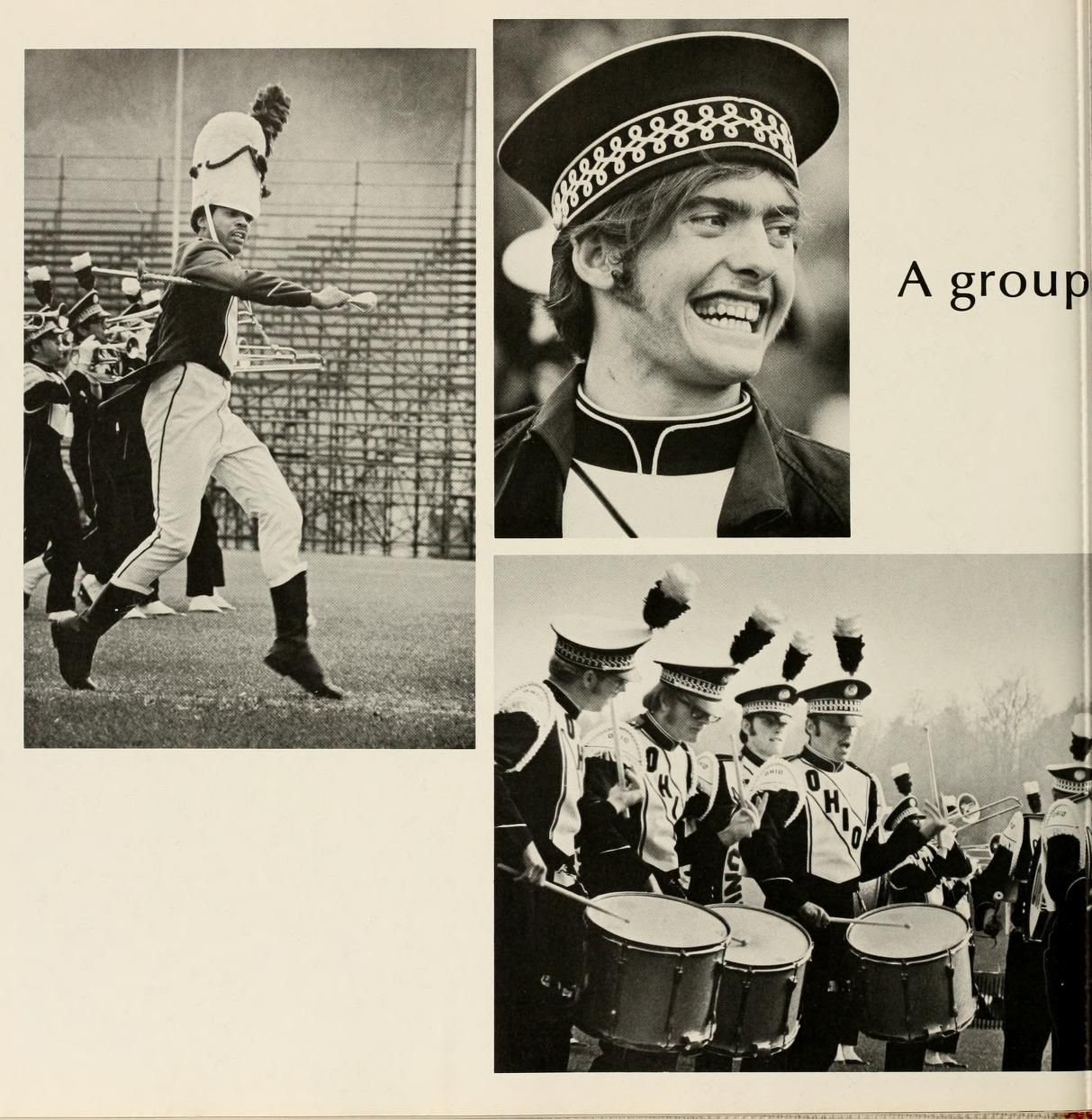 Athena yearbook, 1971. The marching band. :: Ohio University Archives