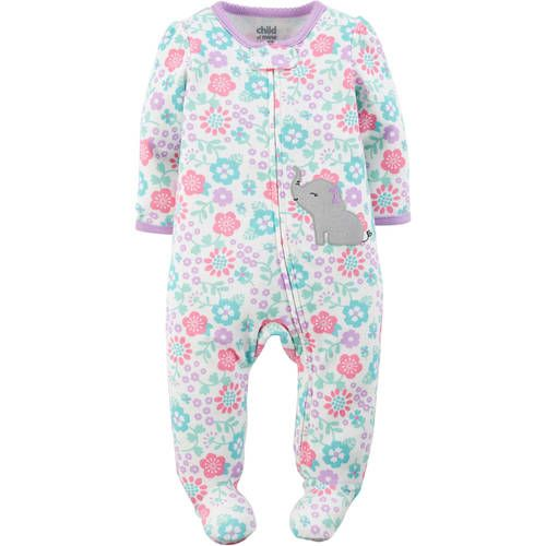 1ac86ab93 Child of Mine by Carter s Newborn Baby Girl Interlock Sleep N Play ...