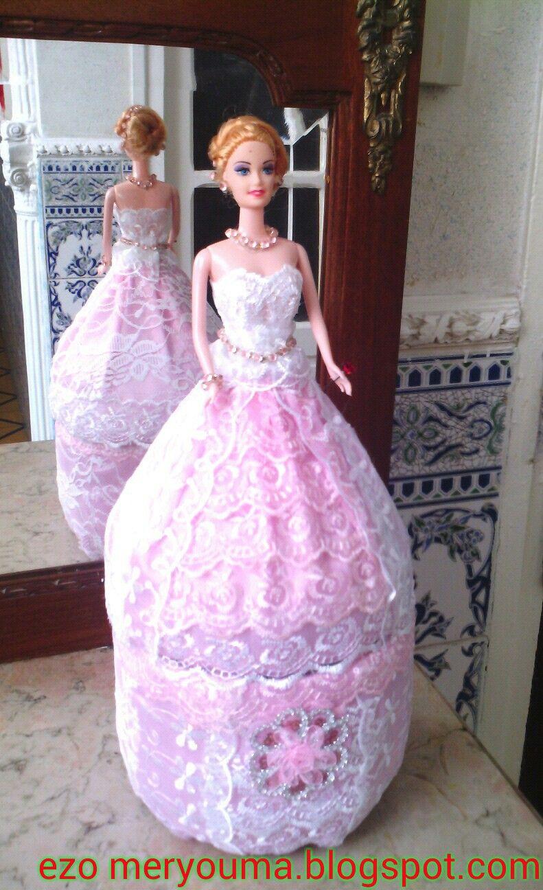 خطوات مصورة لعمل علبة اكسسوارات دمية باربي سهلة و جميلة Diy Doll Dress اعمال فنية و اشغال Formal Dresses Long Ball Gowns Formal Dresses