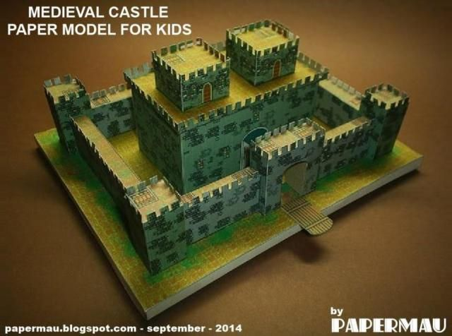 Toys In The Attic Medieval Castle Paper Model For Kids