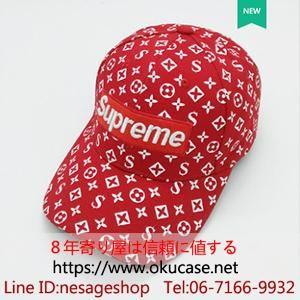 Photo of Supreme X Louis Vuitton Box Logo キャップ ルイヴィトン シュプリーム 野球帽 モノグラム 帽子 レディース メンズ 6色 刺繍ロゴ入れ