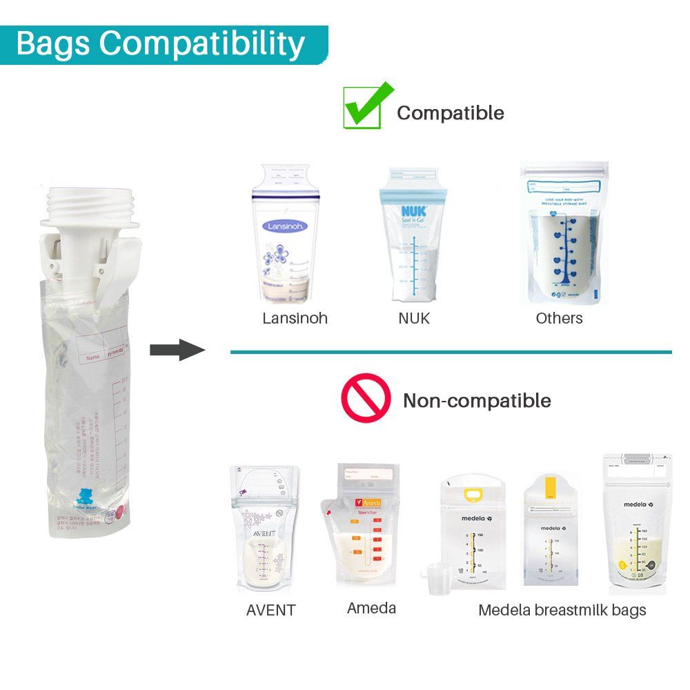 30e2e9d8e4d8 breastfeeding accessories - Breastmilk Storage Bag Adapters for Spectra S1  S2 Pumps Avent Comfort Wide Mouth