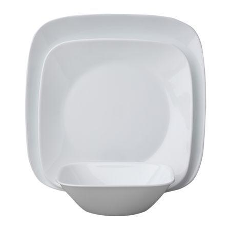 Corelle 18 piece Square Set - Six 10 1/2\  plates Six 9  sc 1 st  Pinterest & Corelle 18 piece Square Set - Six 10 1/2\