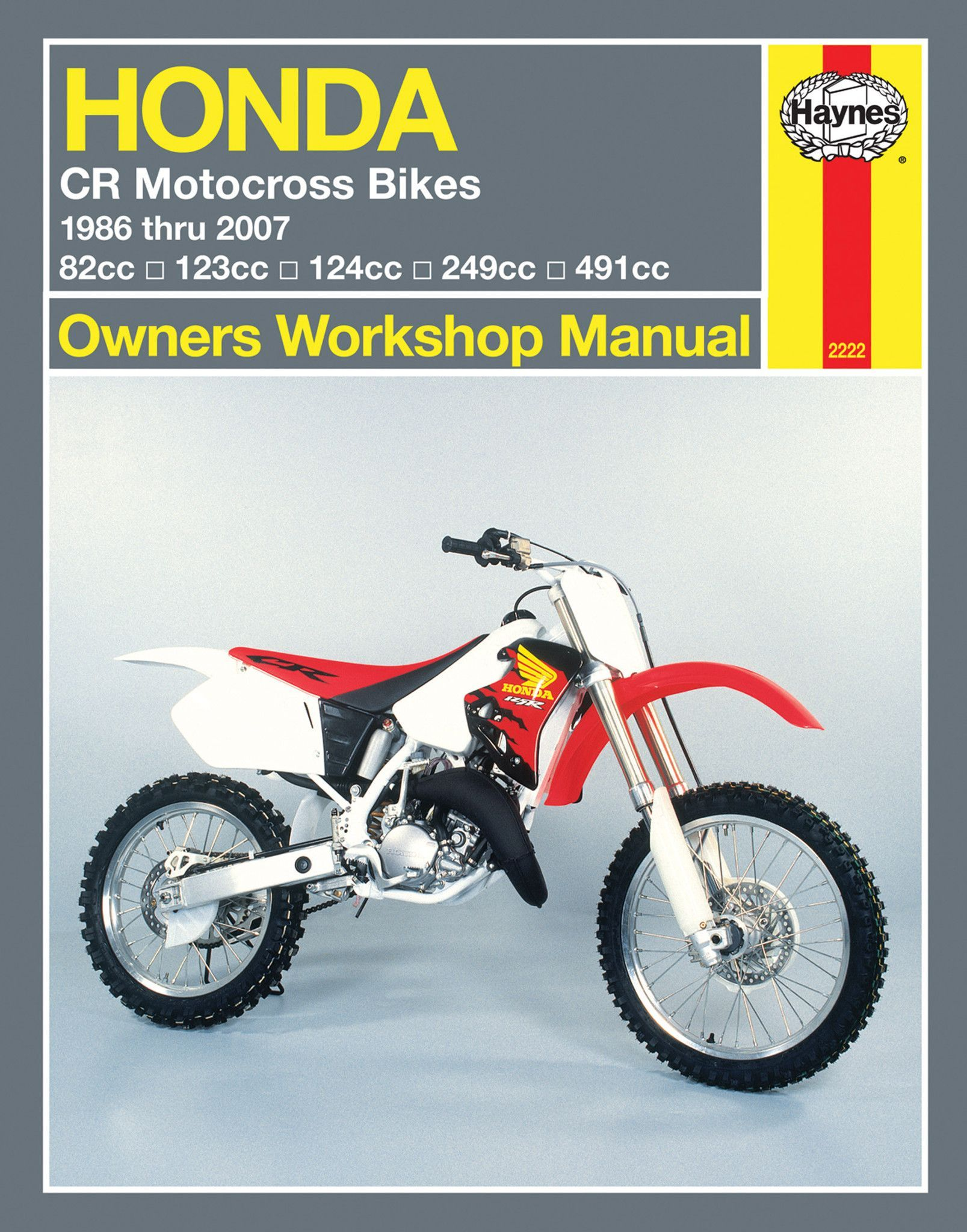 haynes m2222 repair manual for 1986 07 honda cr80 cr125r cr250r rh pinterest com 1994 Honda CR250 1998 honda cr250 service manual