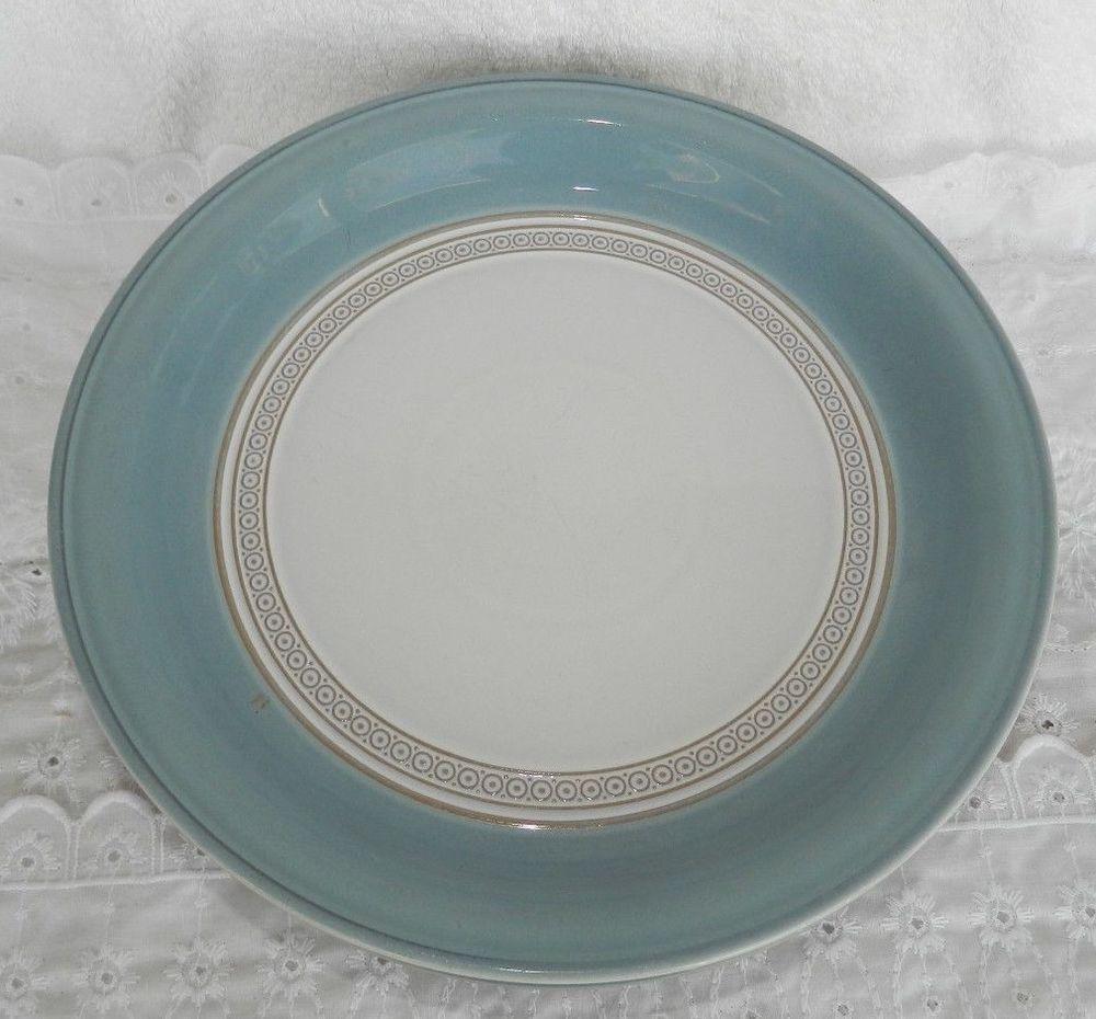 6 Vintage Denby Langley Castile Handcrafted Stoneware England Dinner Plates #Denby & 6 Vintage Denby Langley Castile Handcrafted Stoneware England Dinner ...