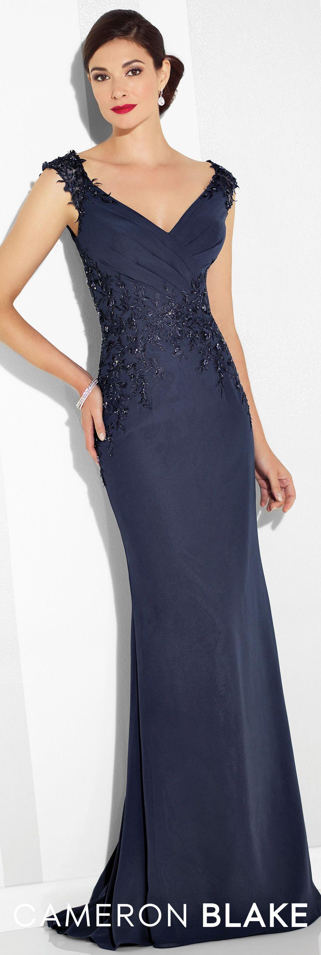 Cameron Blake - Evening Dresses - 117616 | Lace trim, Formal and Cap