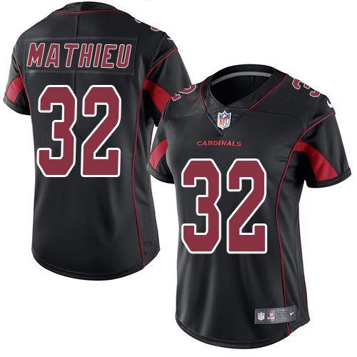 Nike Tyrann Mathieu Limited Black Women's Jersey - NFL Arizona Cardinals #32 Rush