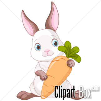 Clipart Rabbit Holding Carrot Royalty Free Vector Design Bunny Images Carrot Drawing Animal Illustration