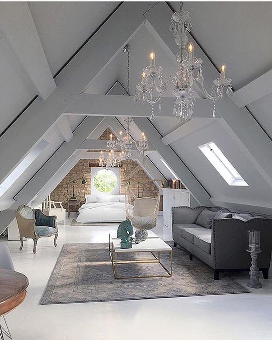 2 625 Likes 65 Comments Bedrooms Of Instagram Bedrooms Of Insta On Instagram When Your Attic Is A Masterpiece Attic Master Bedroom House Modern House