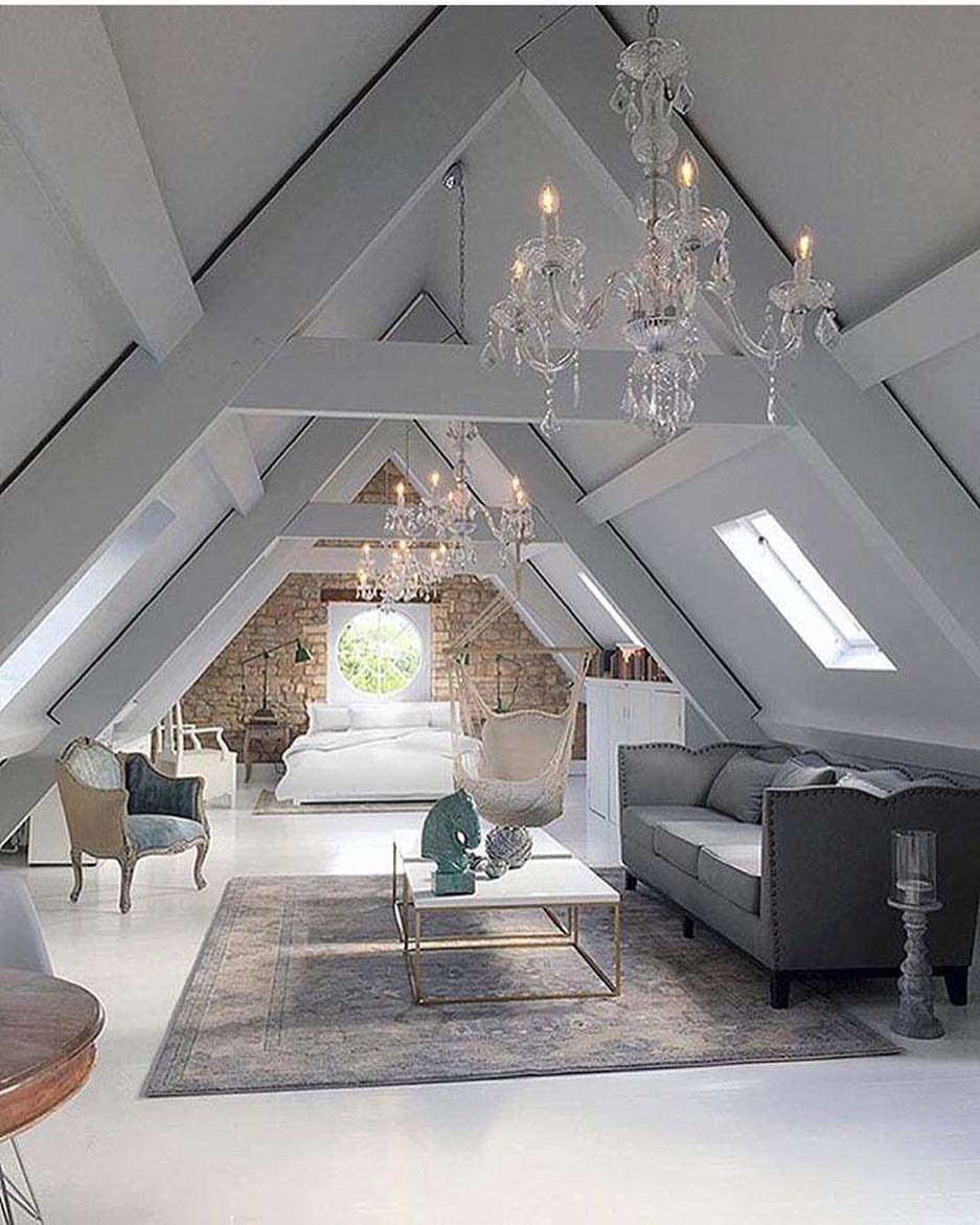 Small attic loft bedroom ideas  Pin by Sasha Laric on Ideas for the House  Pinterest  Attic