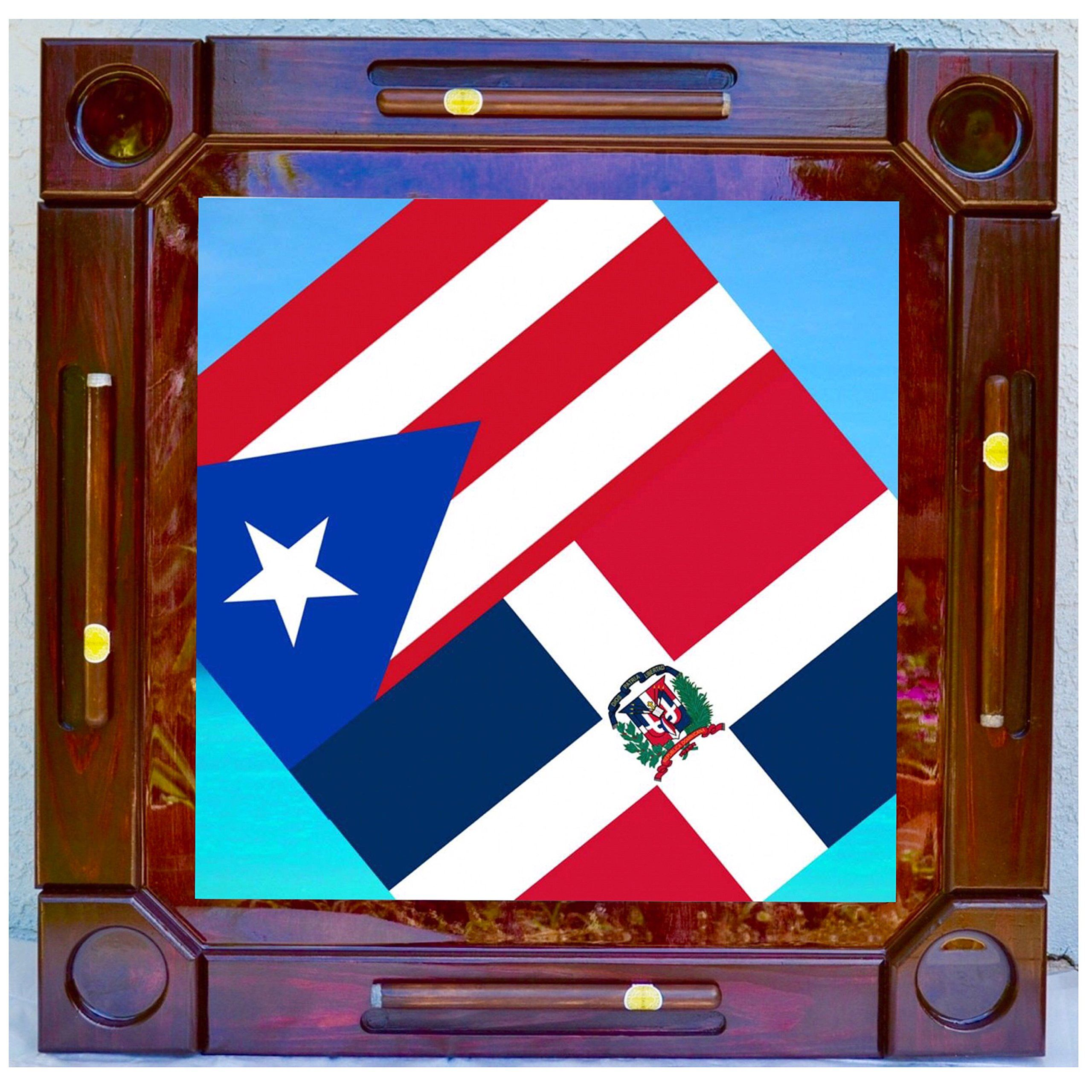 Wooden/wood Dominoes/domino Table/mesa Custom Made Puerto Rico And