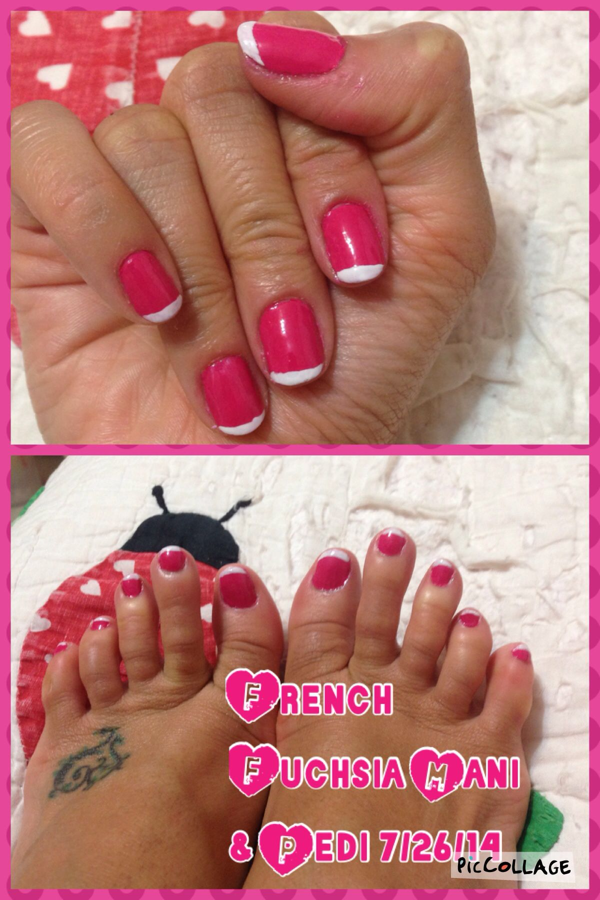 French Fuchsia Mani & Pedi 7/26/14 Base Coat: Barielle No Bite Pro ...