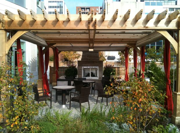 communal patio space spring creek pinterest canopy and patios