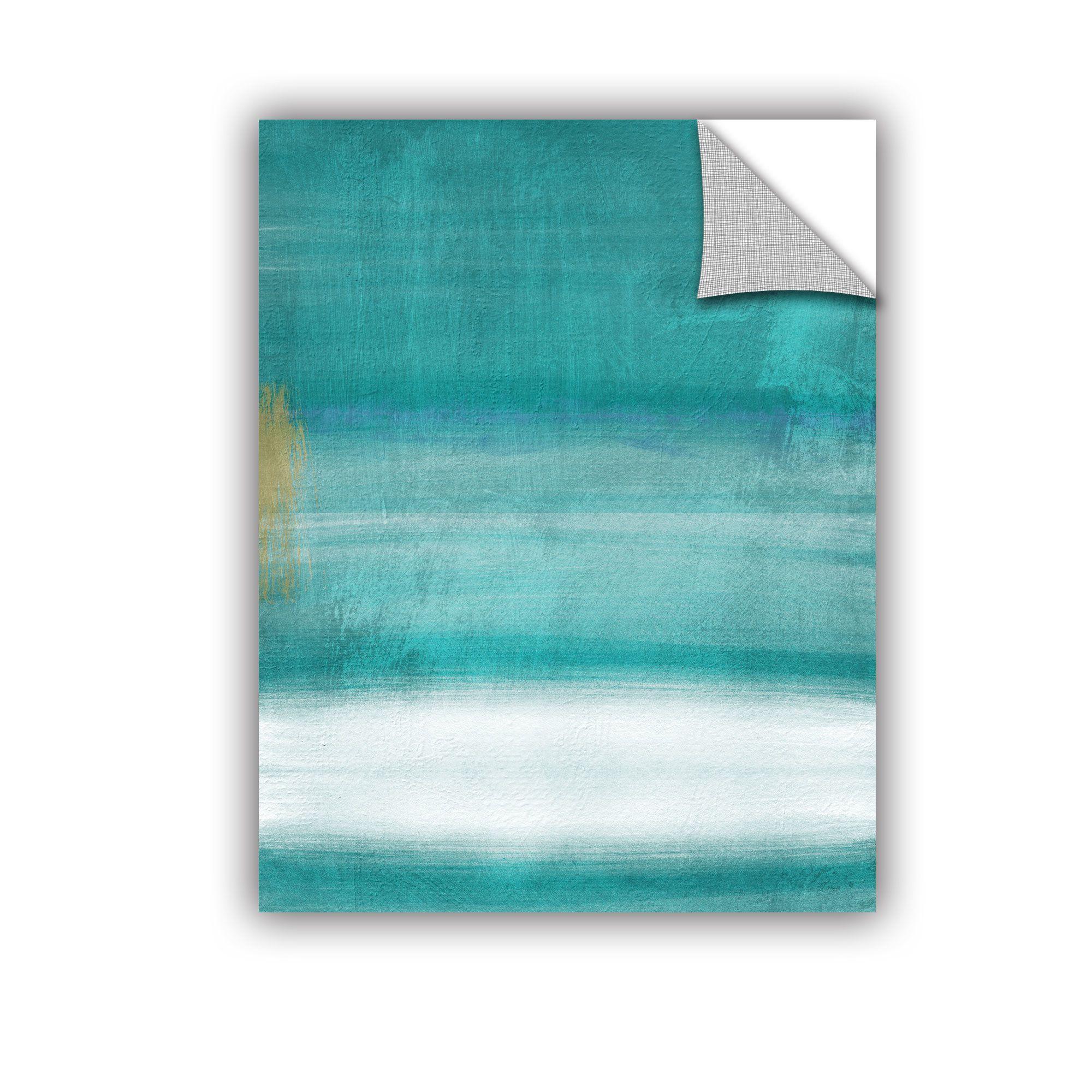 Linda Woods Blue Abstract II Wall Decal