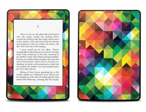 Amazon Kindle Paperwhite Skin Cover Multi Colored Geometric Pattern Kindle Cover Kindle P Kindle Paperwhite Case Kindle Paperwhite Cover Kindle Paperwhite