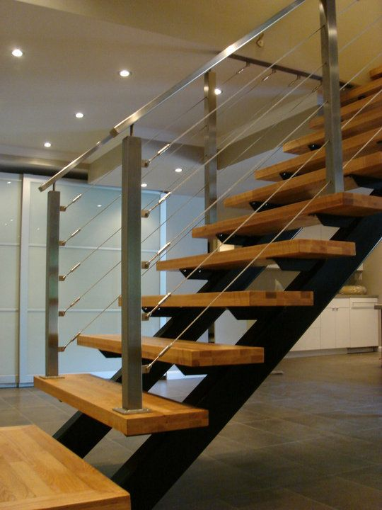 stainless steel wire rope fence / cable railings | Stair/railing ...