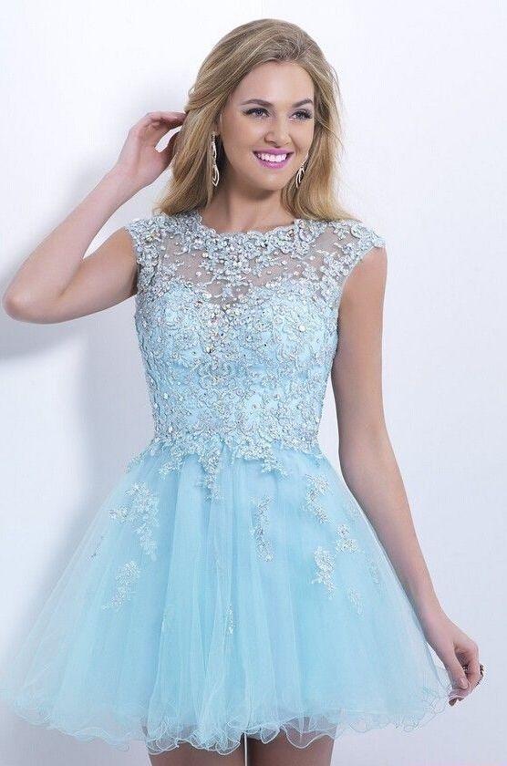 Light Blue Winter Formal Dress