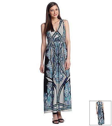 Notations® Multi Print Maxi Dress from Bon-Ton