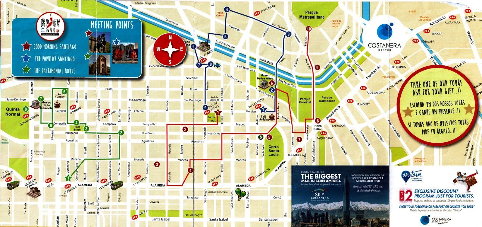 Santiago De Chile Mapa Turistico.Resultado De Imagen Para Santiago De Chile Mapa Turistico En