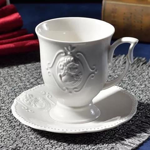 Photo of €25.8 41% de DESCUENTO|Juego de tazas y platillos de Café Vienés, Taza de Café de Cerámica literario y platillo en relieve, taza de café nórdica de 350 ml, taza y platillo|Tazas|   – AliExpress