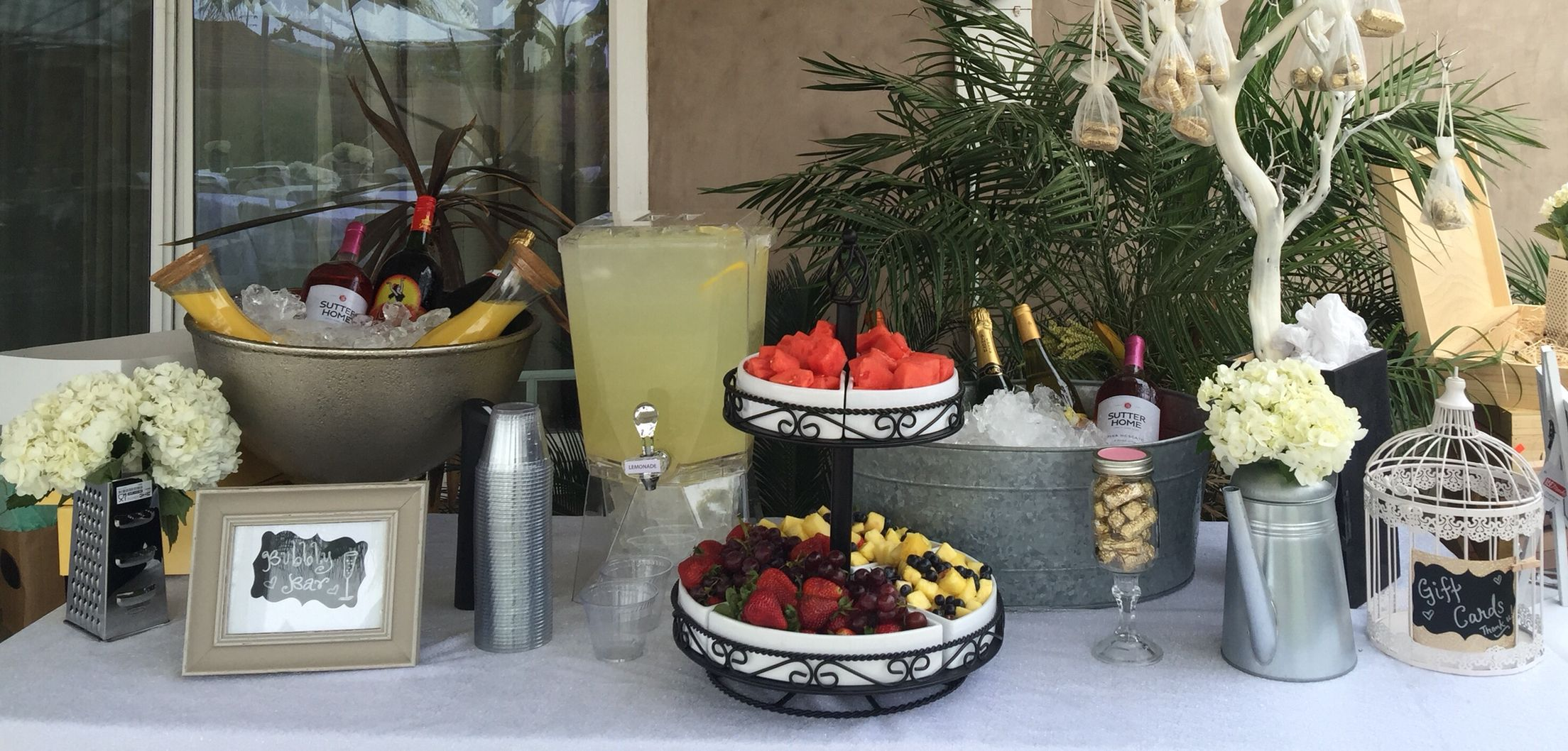 Party Ideas Mimosa Bar Or Bubbly Bar For Hosting At