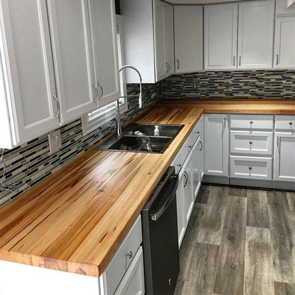 Product Features Solid Construction Simple Lines Good Choice For Kitchen Cabinet Or Dresser I Kitchen Remodel Small Wood Countertops Kitchen Kitchen Design