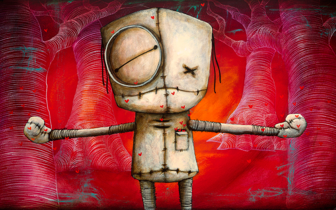 """Fabio Napoleoni- I love you this much 10""""hX16""""w  s/n 747 only $85 at pop gallery Orlando.  Ask for Sam she is the best!"""