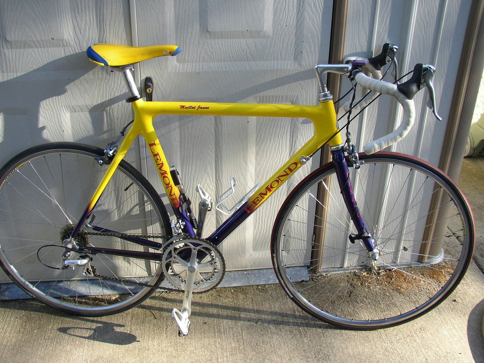 My first real road racer, a Lemond carbon frame with Dura Ace. That ...