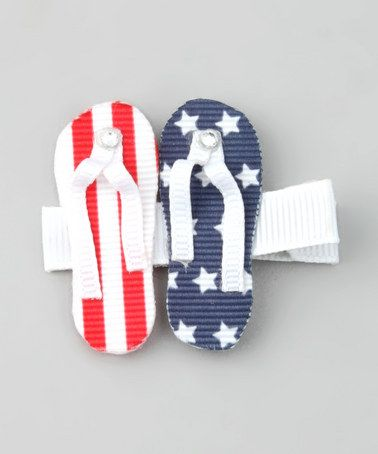 7ed0a791960b96 Take a look at this USA Sandal Clip by Bubbly Bows on  zulily today ...